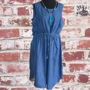 Old Navy Maternity Denim Sleeveless Dress Size L